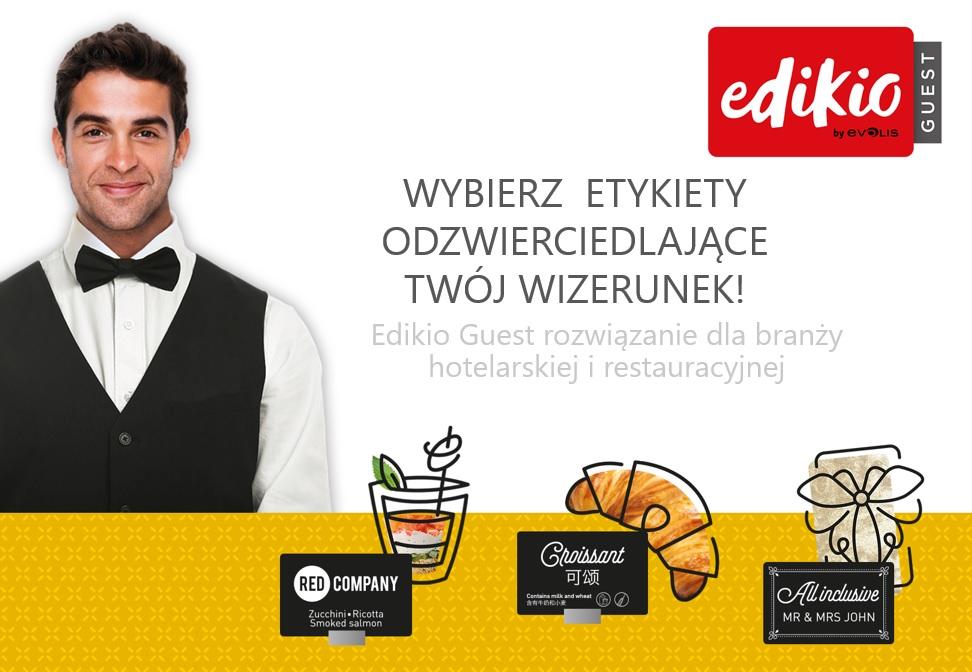 Evolis Edikio Guest - wybierz etykiety odzwierciedlające Twój wizerunek